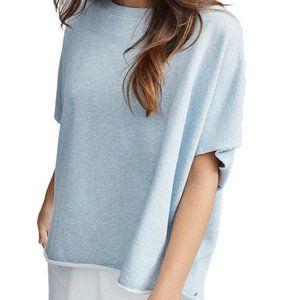 Frank & Eileen Tee Tab Blue Capelet Sweatshirt